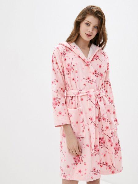 Розовый домашний халат Luisa Moretti
