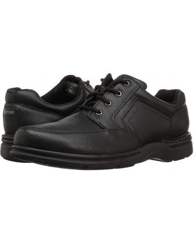 Кроссовки из нубука - черные Rockport