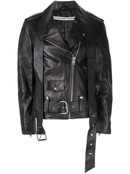 Куртка черная байкерская Alexander Wang