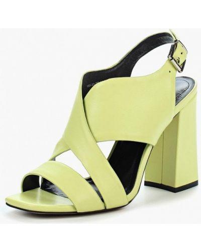 Зеленые босоножки на каблуке Calipso