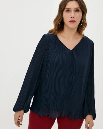 Синяя блузка с длинными рукавами Zizzi