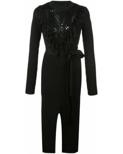 Платье макси длинное - черное Yigal AzrouËl