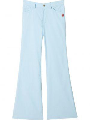 Расклешенные синие джинсы на молнии Marc Jacobs