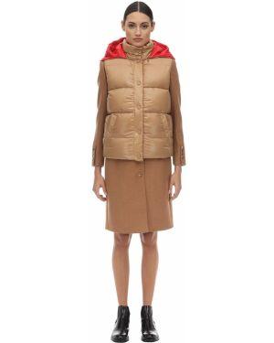 Шерстяное пальто - мятное Burberry