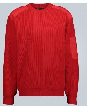 Sweter włoski z łatami Balenciaga