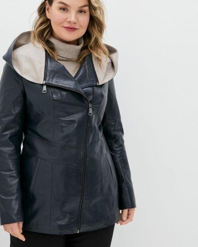 Кожаная куртка - синяя снежная королева