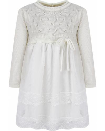Шерстяное белое платье Aletta
