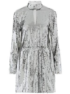 Sukienka z cekinami srebro Tibi