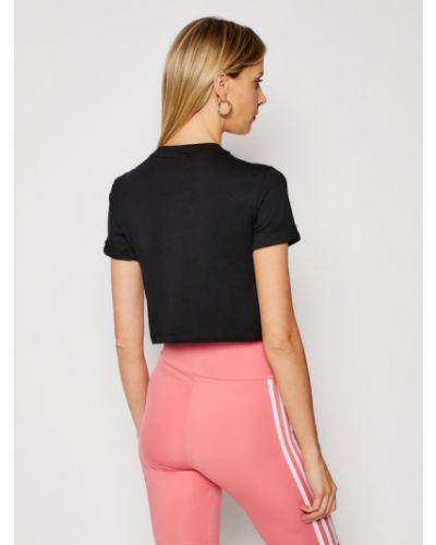 Czarny crop top Adidas