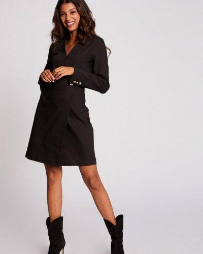 Черное прямое платье Morgan