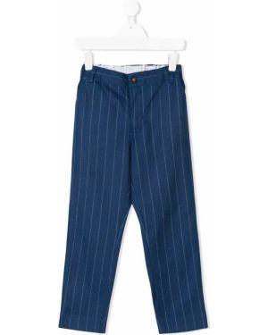 Niebieskie spodnie bawełniane Anne Kurris