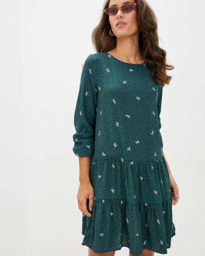 Зеленое прямое платье Sela