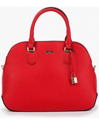 Красная кожаный сумка Aldo