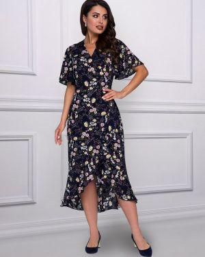 Летнее платье с цветочным принтом из штапеля Charutti
