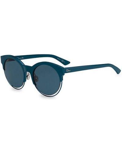 Солнцезащитные очки круглые металлические Dior