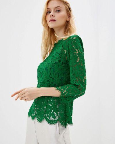 Блузка с длинным рукавом зеленый осенняя Lusio