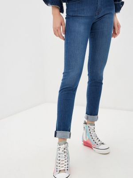 Синие джинсы-скинни с пайетками Love Moschino