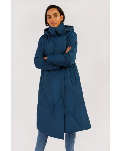 Пальто с капюшоном - синее Finn Flare