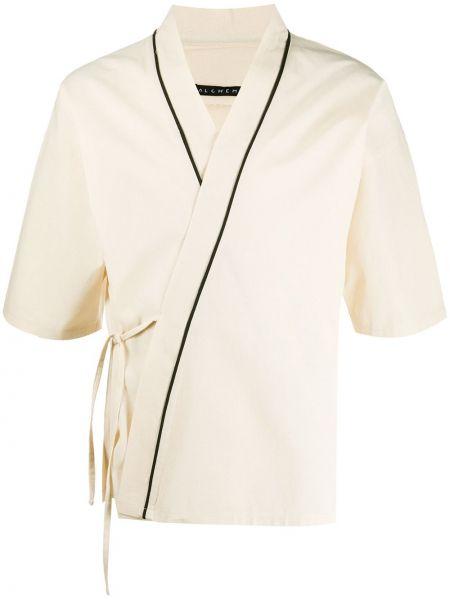 Облегченное с рукавами хлопковое кимоно с завязками Alchemy