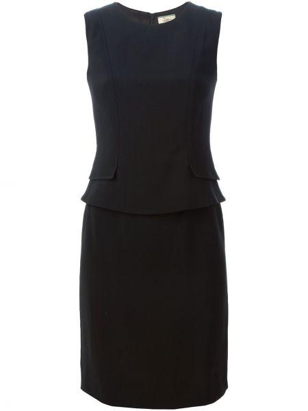 Шелковое платье - черное Issa