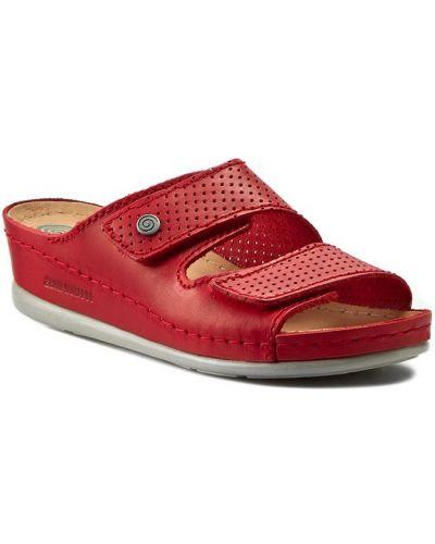 Czerwone sandały Dr. Brinkmann