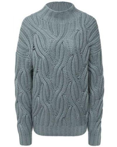 Синий кашемировый свитер Brunello Cucinelli