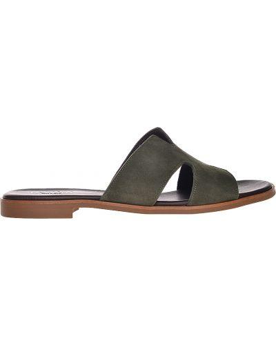 Шлепанцы на каблуке зеленый Pertini
