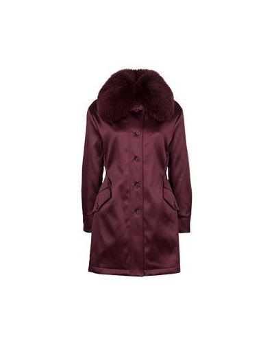 Зимняя куртка бордовый красная Roberto Cavalli