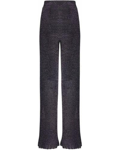 Фиолетовые расклешенные брюки на резинке с люрексом эластичные M Missoni