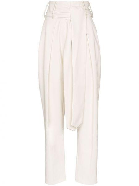 Прямые брюки с воротником с завязками с поясом Anouki
