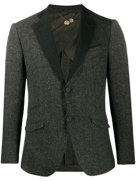 Шерстяной классический пиджак на пуговицах с лацканами с карманами Maurizio Miri