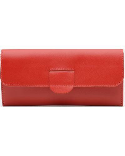 Кожаный кошелек - красный Palmera