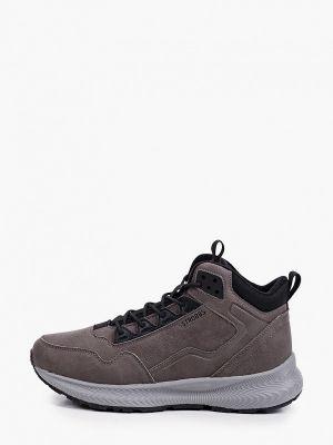Кожаные высокие кроссовки - серые Strobbs