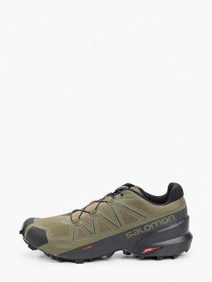 Кожаные кроссовки - зеленые Salomon
