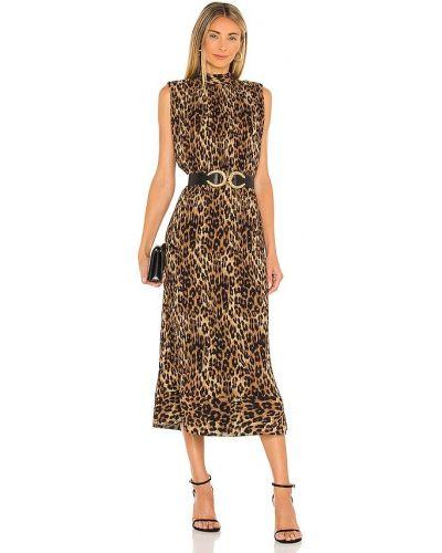 Brązowa sukienka z printem Milly