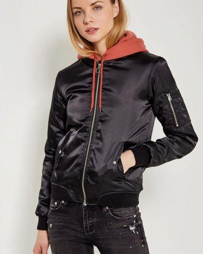 Черная утепленная куртка Modis