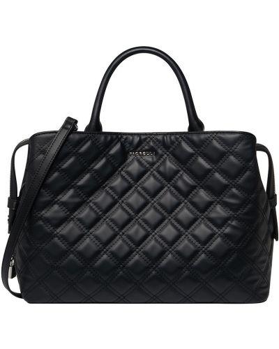 Кожаная сумка через плечо - черная Fiorelli
