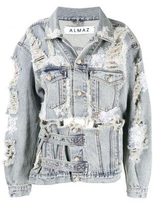 Хлопковая серая джинсовая куртка с воротником Almaz