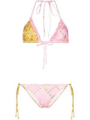Пляжный слитный купальник - розовый Loveshackfancy