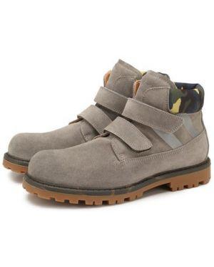 Ботинки серые замшевые Rondinella
