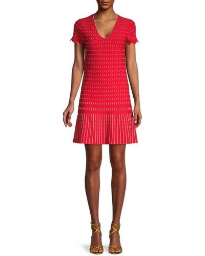 Красное платье мини с V-образным вырезом из вискозы Ted Baker London
