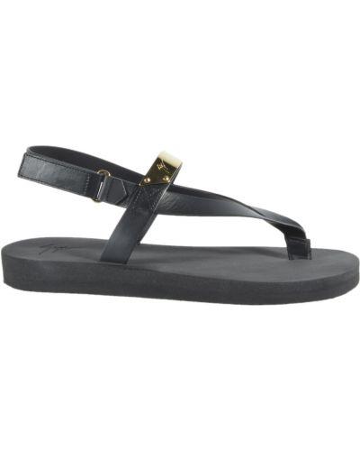Czarne sandały Giuseppe Zanotti