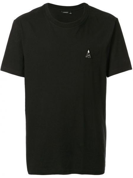 Хлопковая футболка - черная J.lindeberg