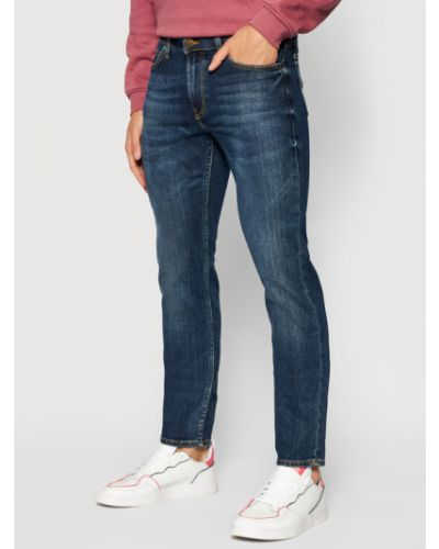 Mom jeans - granatowe Lee