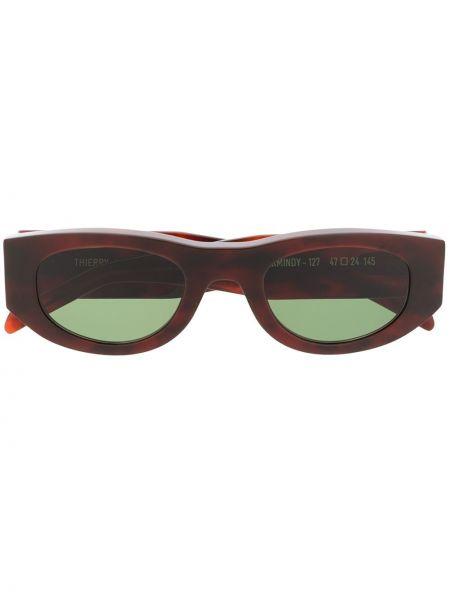 Прямые коричневые солнцезащитные очки круглые Thierry Lasry