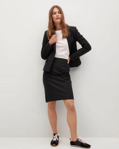 Czarna spódnica ołówkowa bawełniana Mango