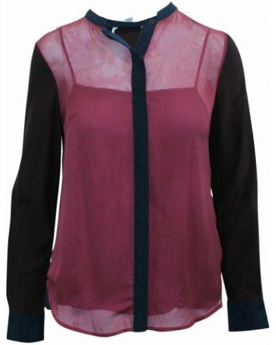 Fioletowa koszula z jedwabiu Diane Von Furstenberg Vintage