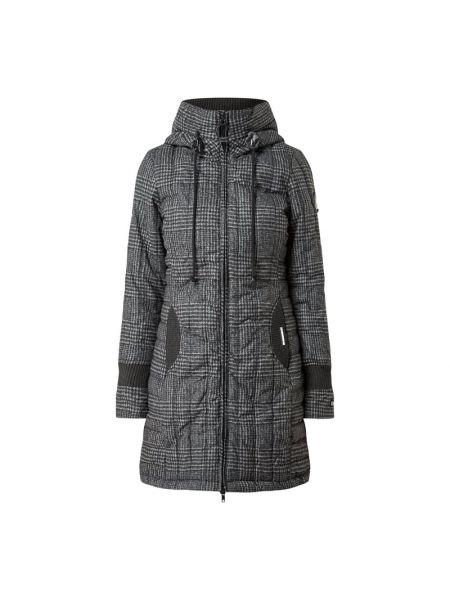 Prążkowany płaszcz z kapturem bawełniany Khujo