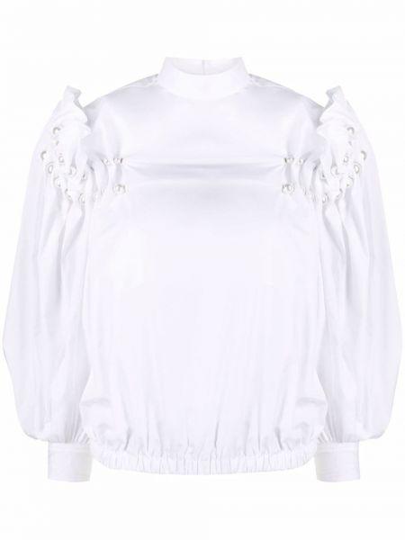 Белая блузка с воротником с оборками Comme Des Garçons Noir Kei Ninomiya