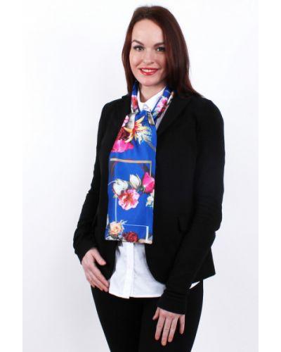 Синий шарф шелковый Lorentino